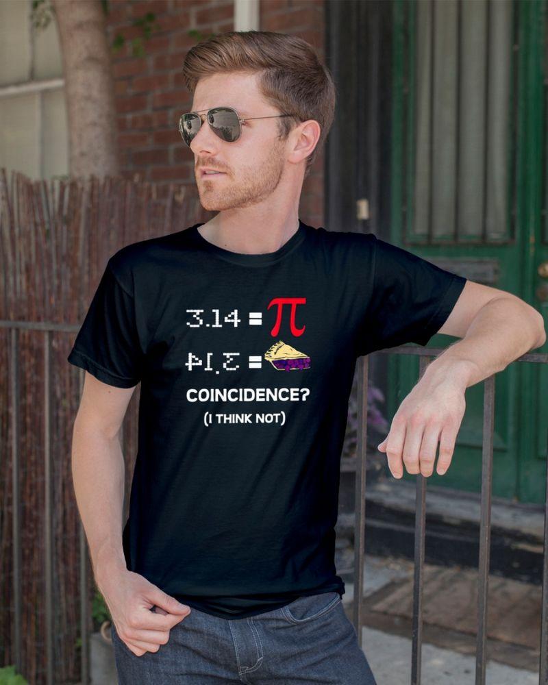 Pi Equals Pie Funny Math Pun Pi Day T-Shirt Black