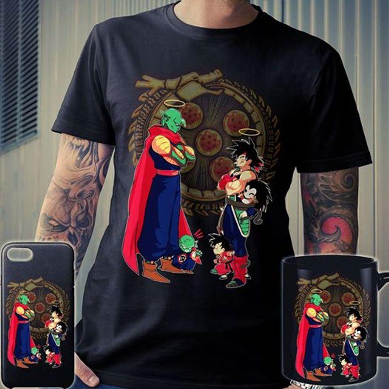 Piccolo Family Vs Goku Family T Shirt Black