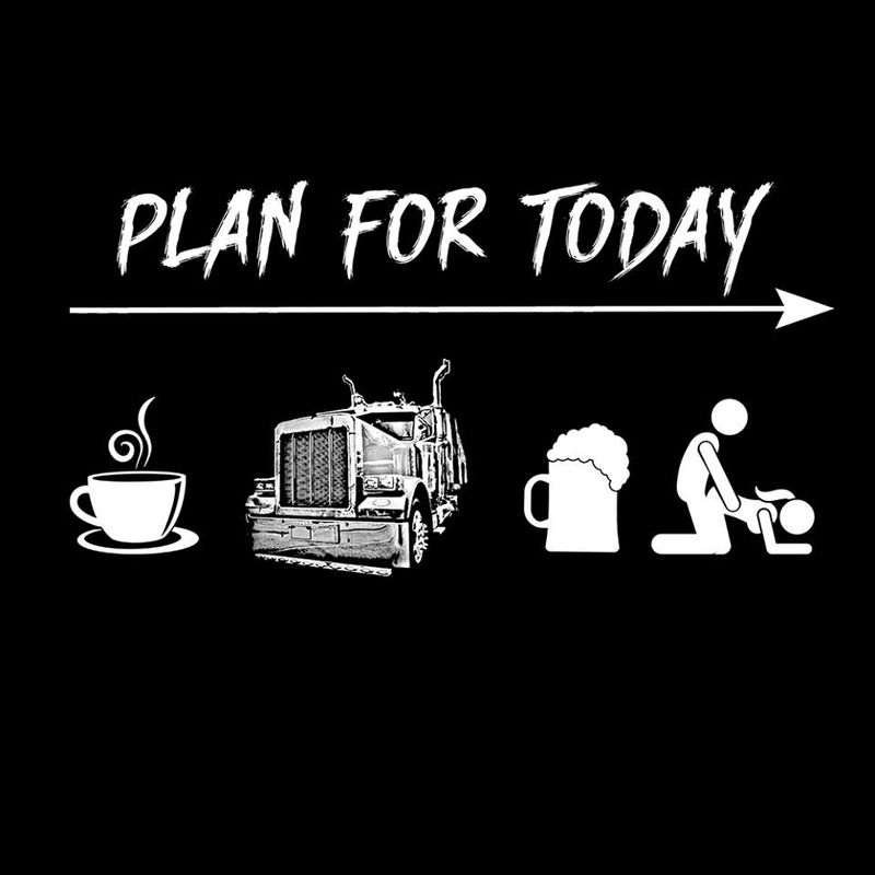 Plan For Today Coffee Beer Sex T Shirt Black A1