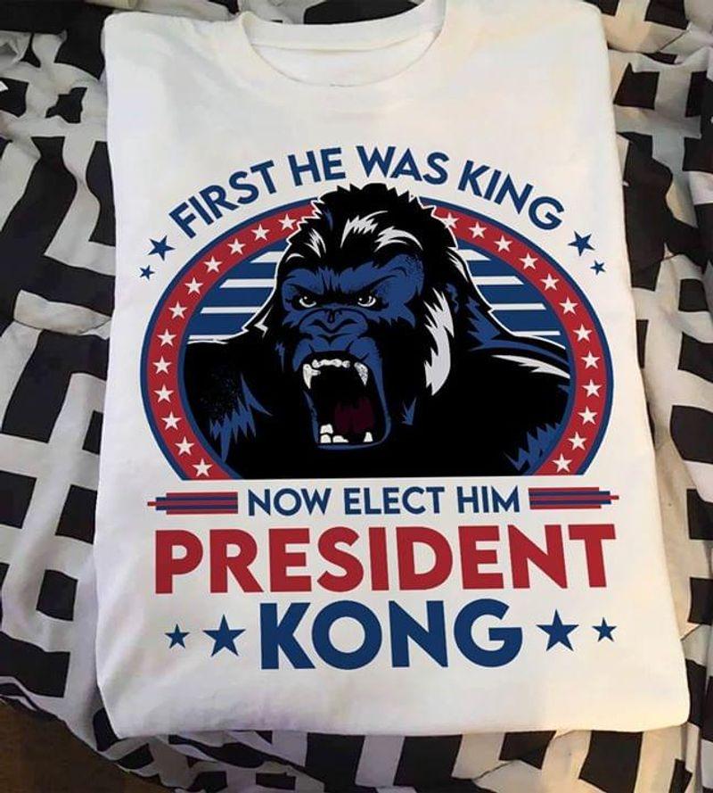 President Kong Tee King Kong Shirt Us Presidential Election 2020 White White T Shirt Men And Women S-6XL Cotton