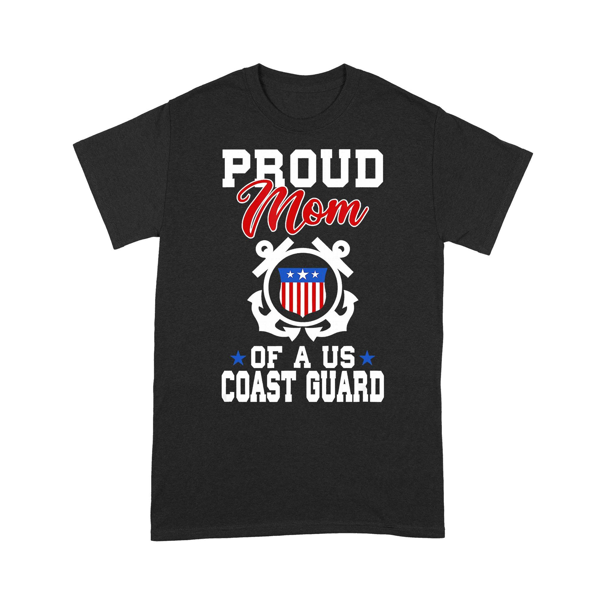 Proud Mom Of A Us Coast Guard American Flag T-shirt