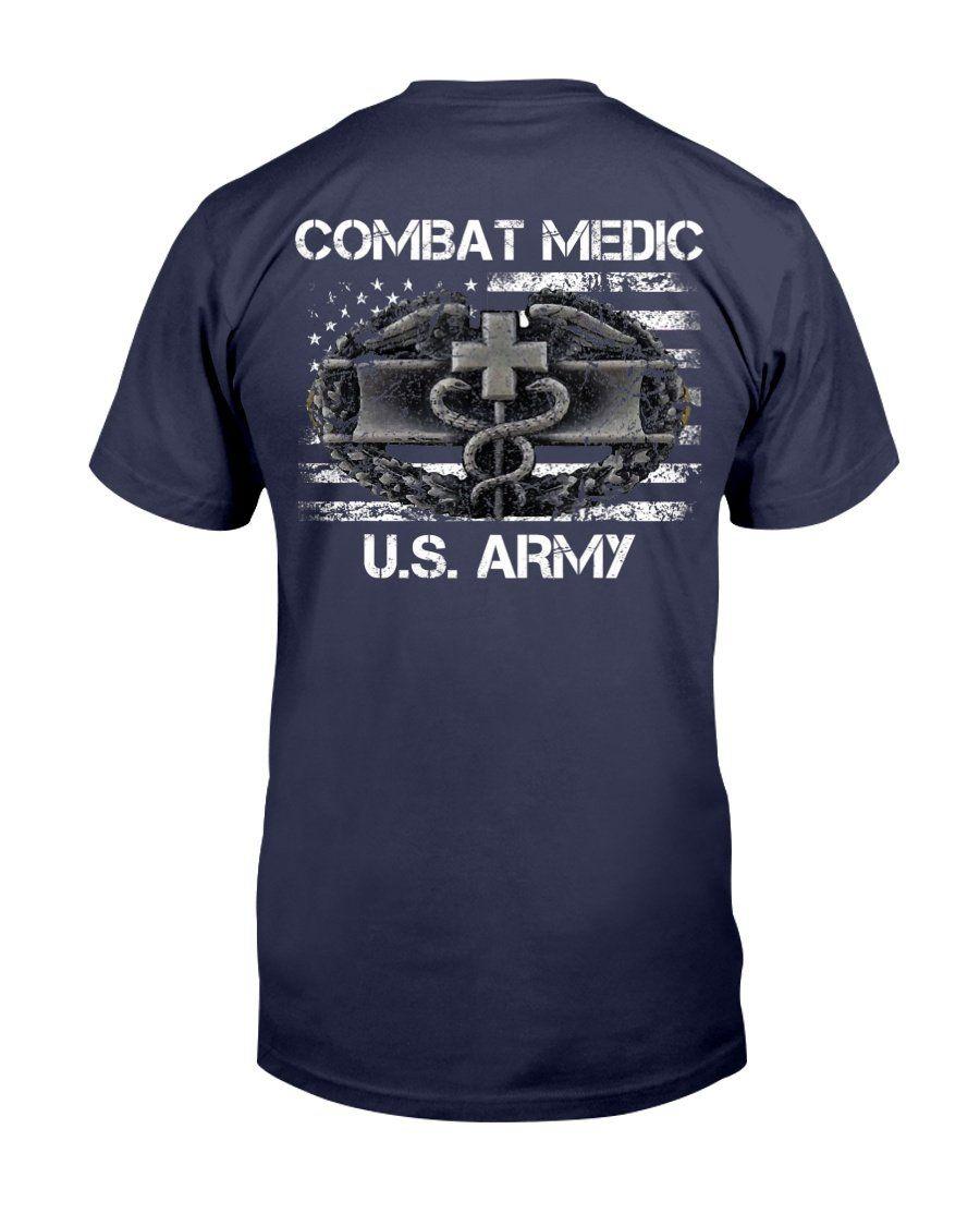 Proud Us Army Combat Medic, American Flag Veteran, Gift For Veteran T-Shirt