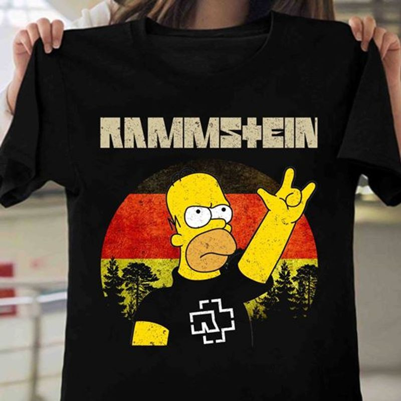 Rammstein Simpsons T-shirt Black A5