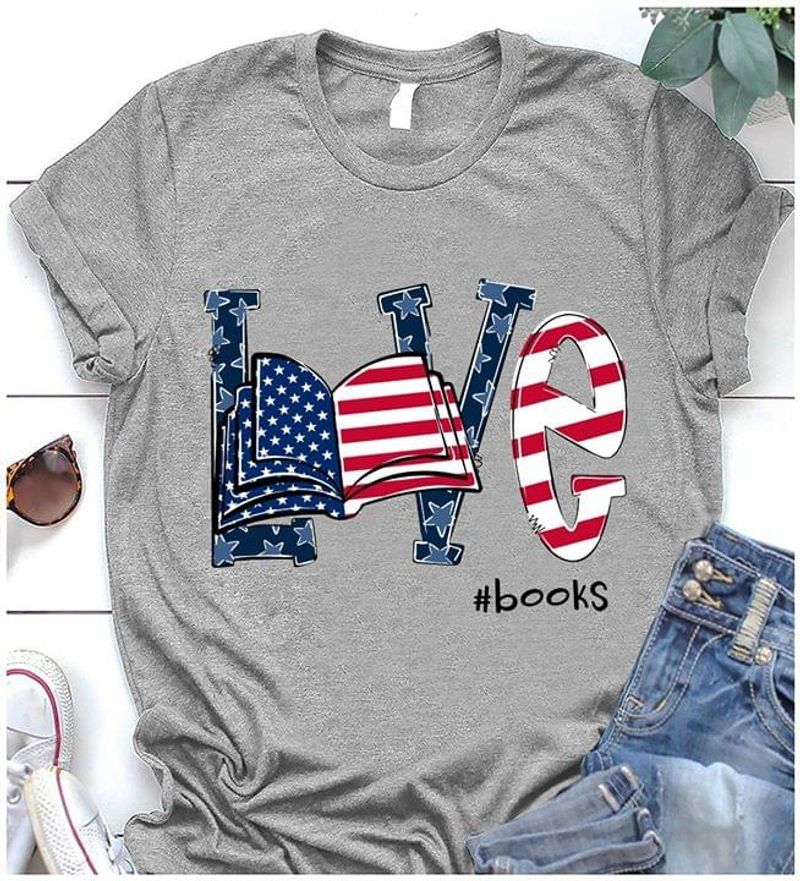 Reading Lover Independence Day 4th Of July Grey T Shirt Men/ Woman S-6XL Cotton