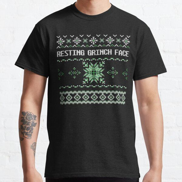 Resting Grinch Face, Ugly Christmas Sweater T-Shirt