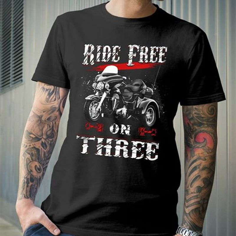 Ride Fire Or Three Motorbike T-shirt Black A5