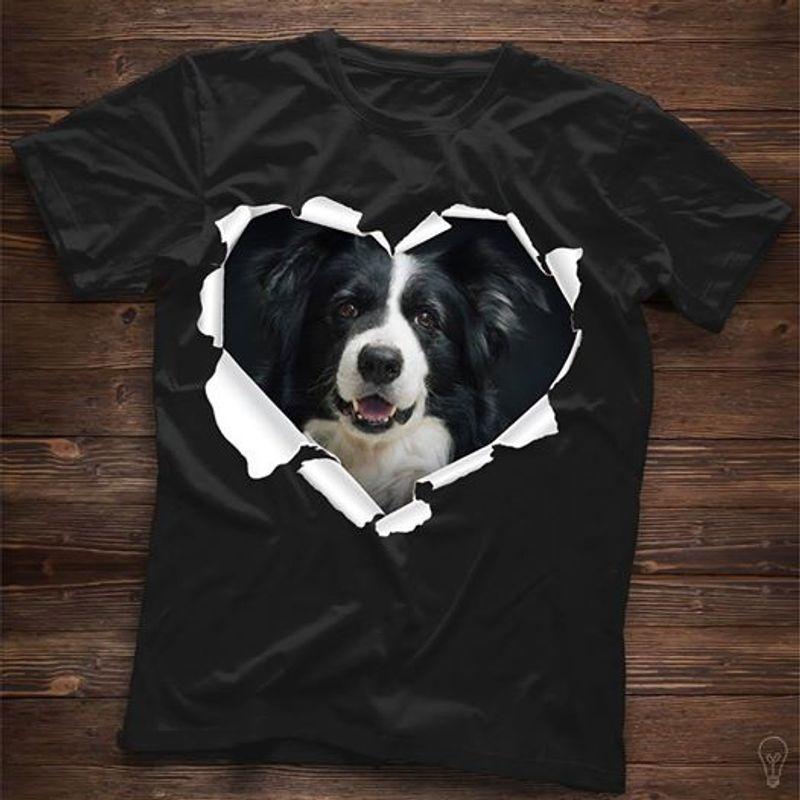 Ripping Dog Heart T-shirt Black A8