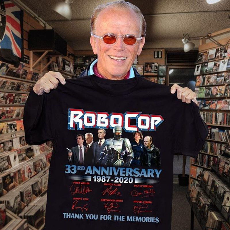 Robocop Lovers 33rd Anniversary 1987 2020 Signature Thank You For The Memories Black T Shirt Men And Women S-6xl Cotton