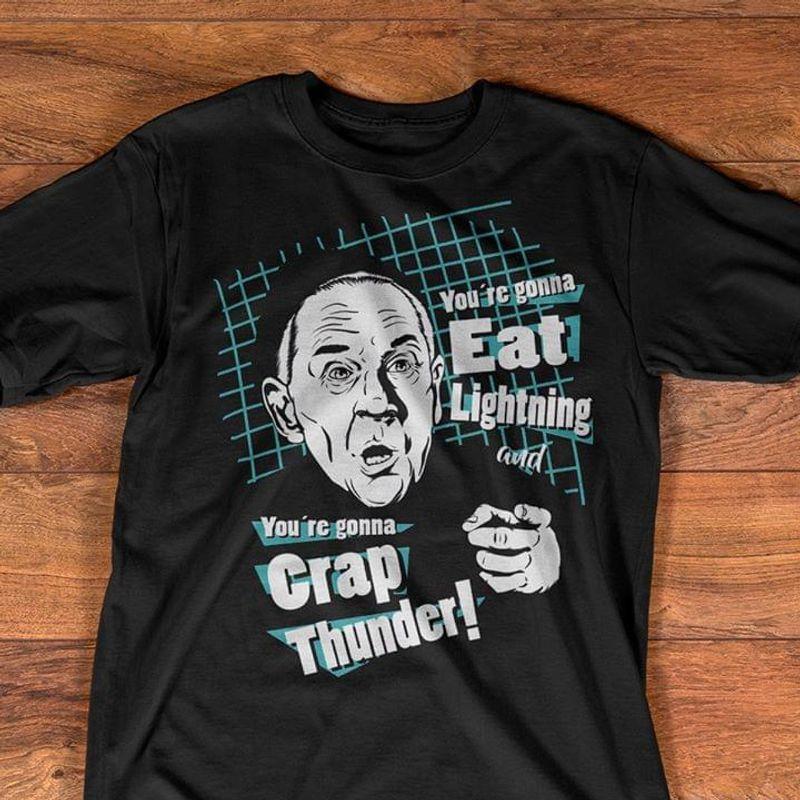 Rocky Balboa Mickey Goldmill Eat Lightning Crap Thunder Black T Shirt Men/ Woman S-6XL Cotton