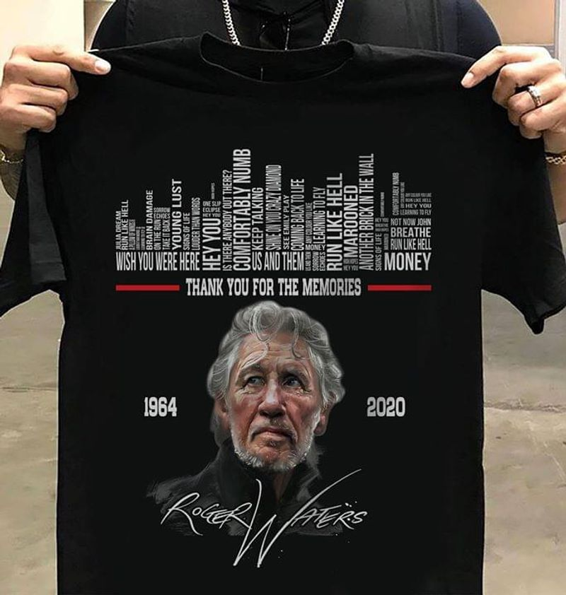Roger Waters Lovers Thank You For The Memories Signature Black T Shirt Men/ Woman S-6XL Cotton