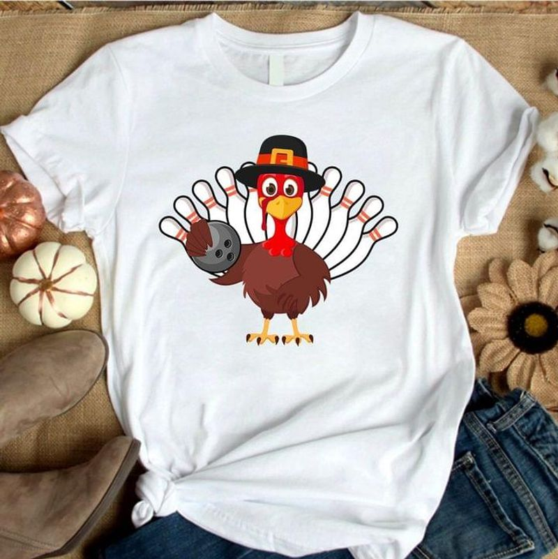 Rooster Bowling Funny Chicken Bowling Ball Bowling Pin Chicken Lover Bowling Lover Black T Shirt Men And Women S-6XL Cotton