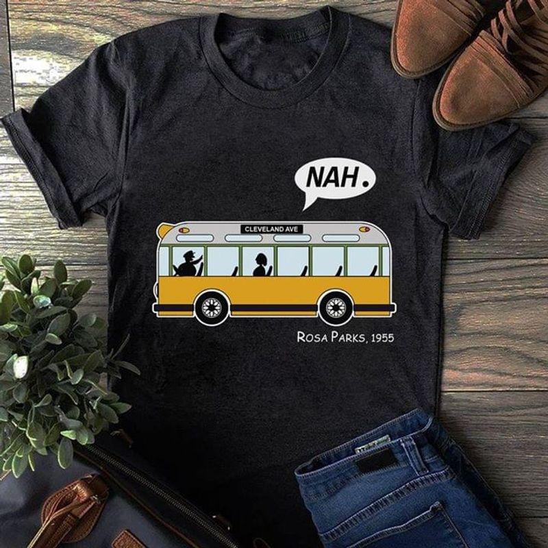 Rosa Parks Bus Black Discrimination Rosa Parks 1955 Black T Shirt Men And Women S-6XL Cotton