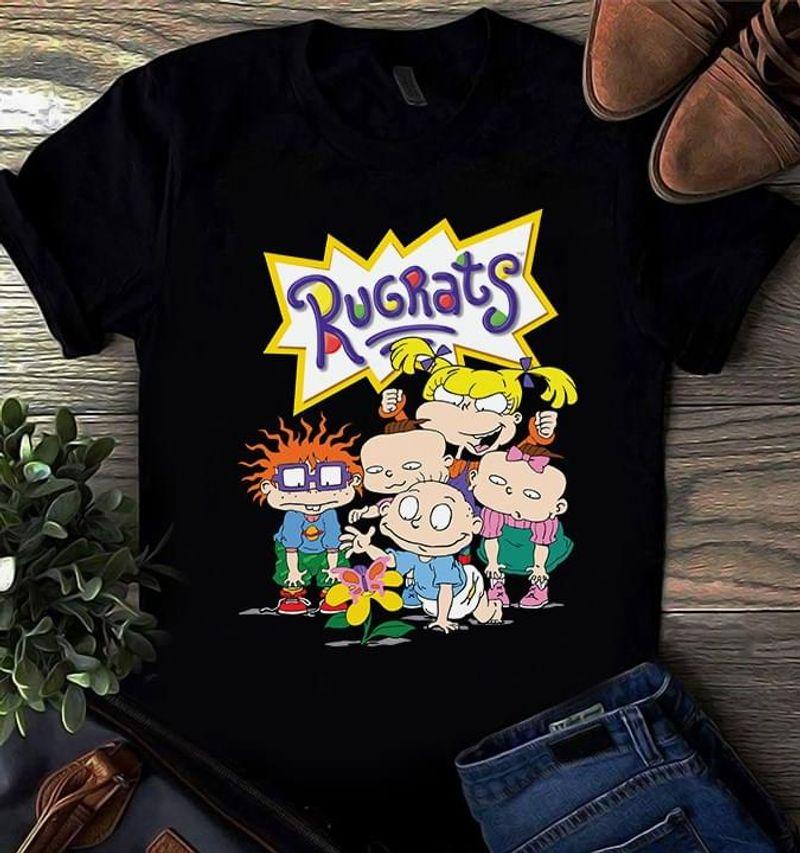 Rugrats Cartoon Art Fans Gift Tv Series Kids Cheryl Chase Kath Soucie Cute Art Black T Shirt Men And Women S-6XL Cotton