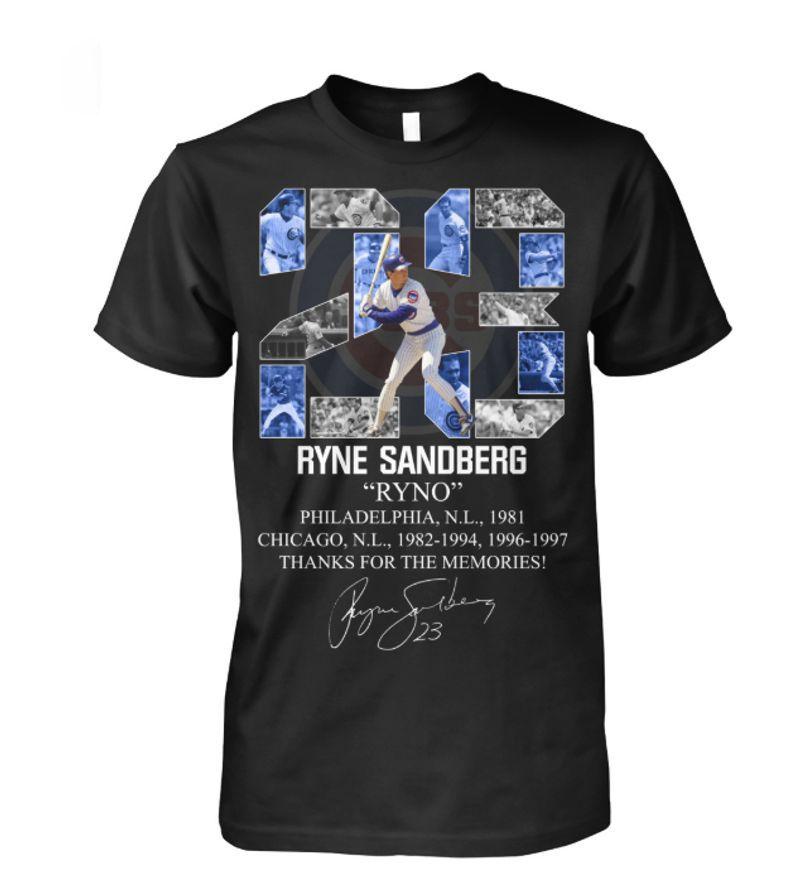 Ryne Rino Sandberg Signature Thank You For The Memories T-shirt Black