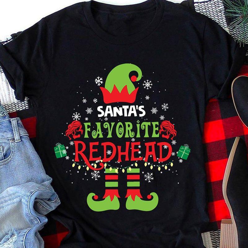 Santa S Favorite Redhead T-shirt Black C2