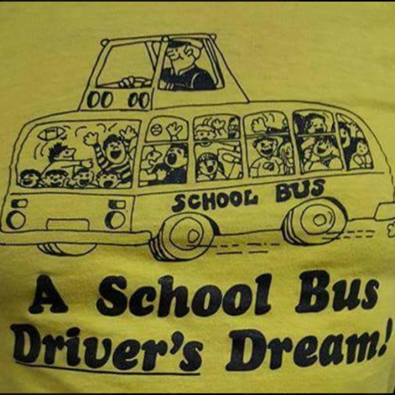 School Bus A School Bus Drivers Dream   T Shirt Yellow B1