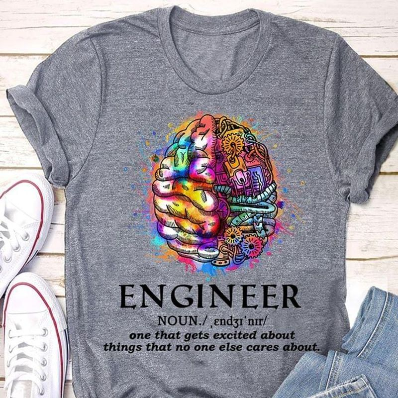 Science  Lover Brain Engineer Noun Definition One That Gets Excited About Things Quote Sport Grey T Shirt Men And Women S-6XL Cotton