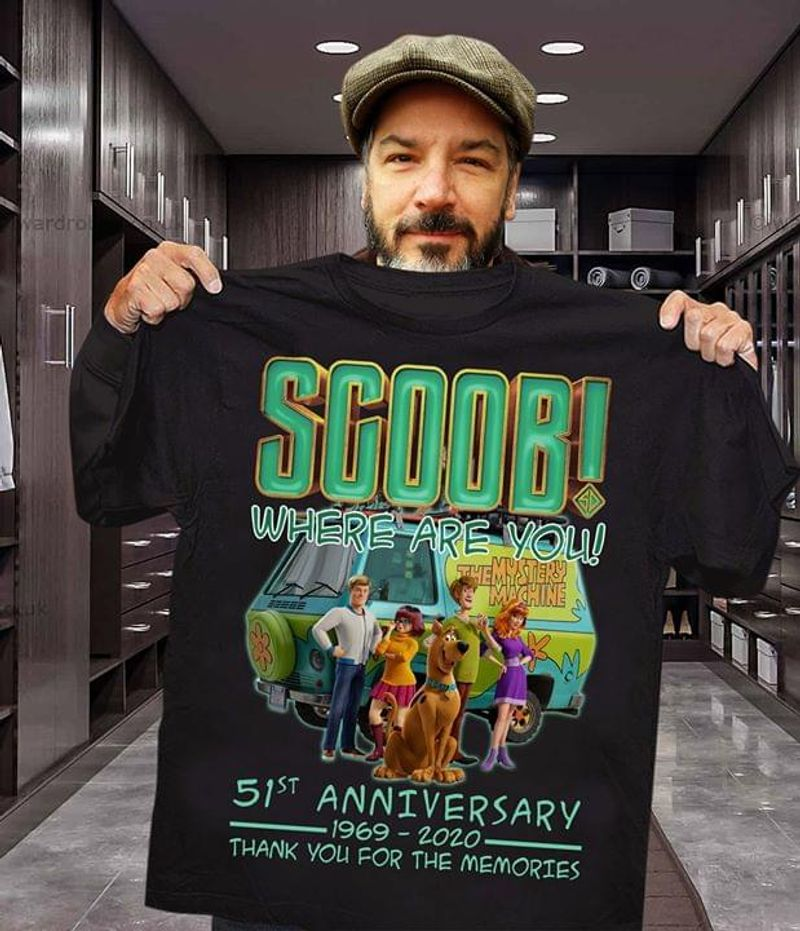 Scoob Where Are You 51Th Anniversary 1969-2020 Thank You For The Memories Black T Shirt Men And Women S-6XL Cotton