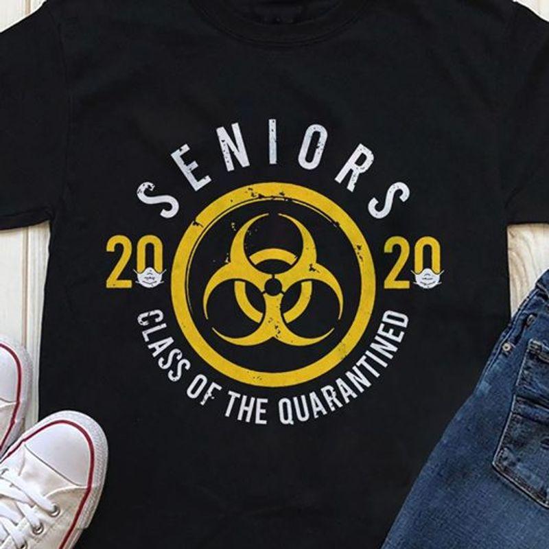 Seniors 2020 Class Of The Quarantined Biological Hazard Symbol T Shirt Black A2