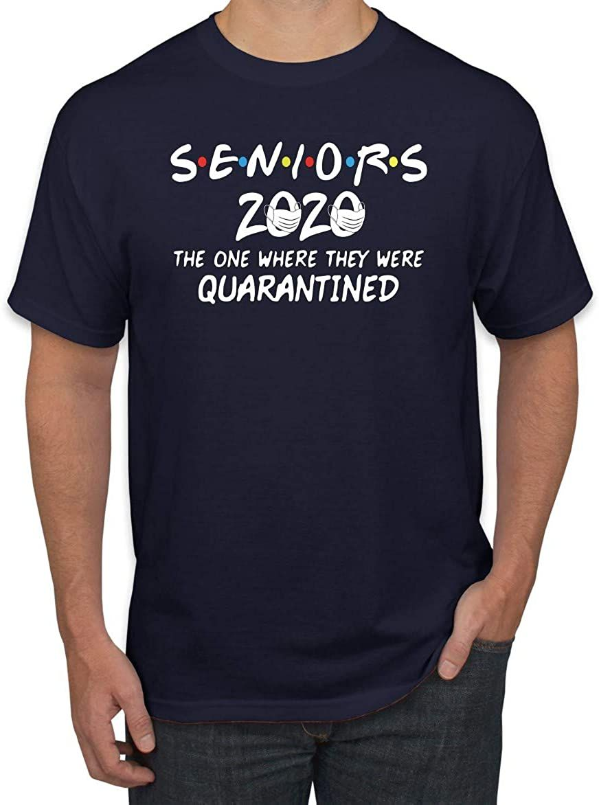 Seniors 2020 The One Where They Were Quarantined Social Distancing Men Women Youth T-Shirt