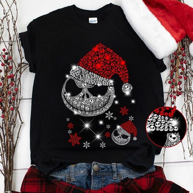 Skeleton Daimon Dandelion Christmas T-shirt Black A5