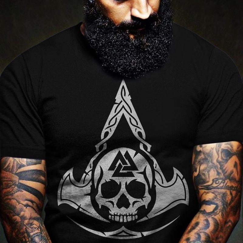 Skull Vlaknut Nordic Myth T Shirt Black