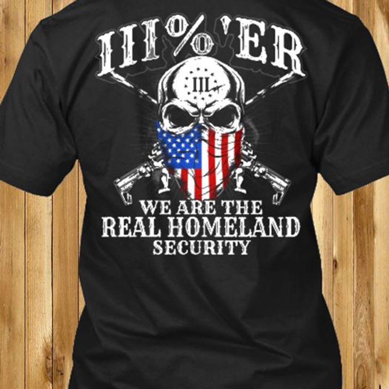 Skull We Are The Real Homeland Security T-shirt Black A5