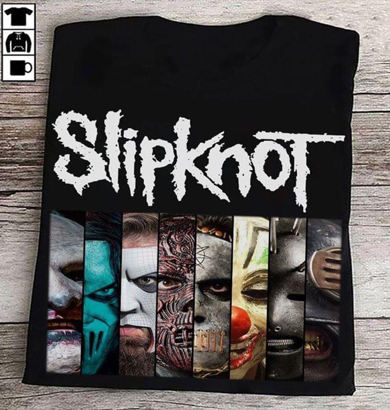 Slipknot Fan Club Halloween Horror Movie Characters Halloween Gift Idea Black T Shirt Men And Women S-6XL Cotton