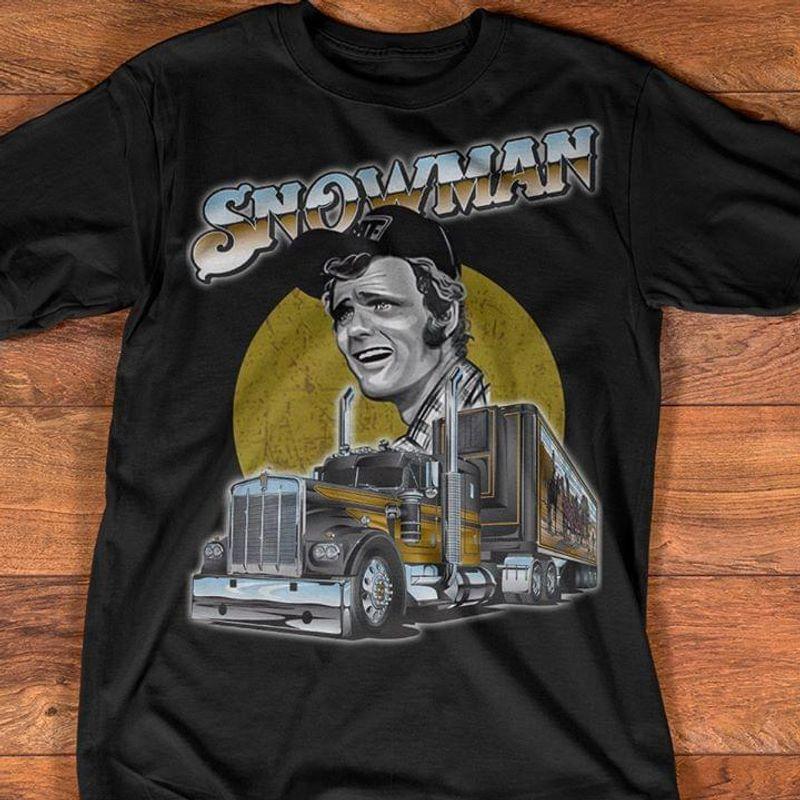 Smokey And The Bandit Trucker Snowman Black T Shirt Men/ Woman S-6XL Cotton