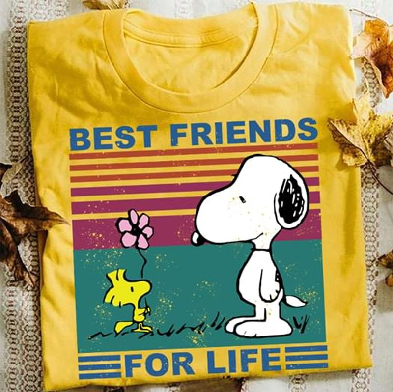 Snoopy And Woodstock Best Friends For Life T Shirt S-6XL Mens And Women Clothing