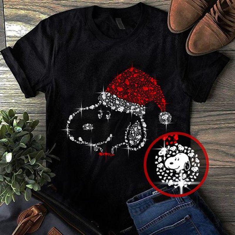 Snoopy Diamond Christmas T-Shirt Black B7