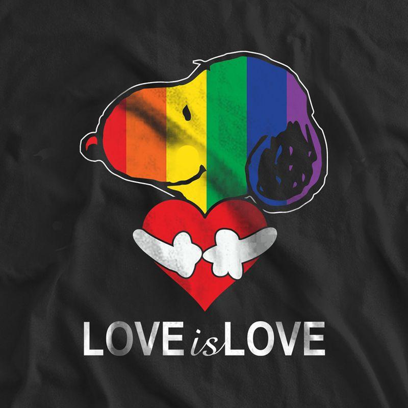 Snoopy Lgbt Love Is Love T-shirt Black B4