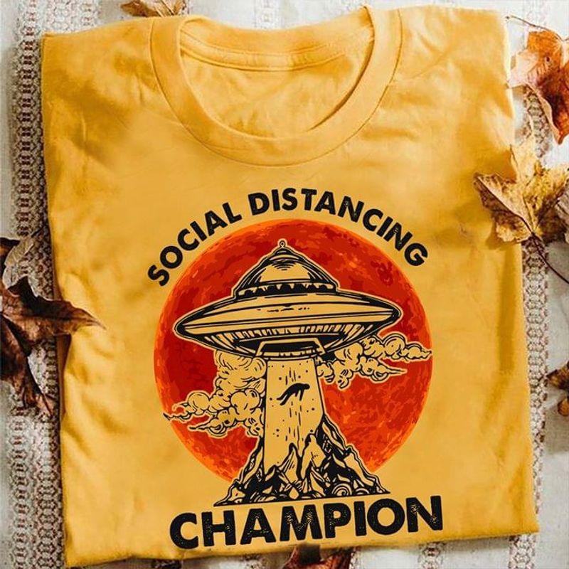 Social Distancing Champiom Gold T Shirt Men/ Woman S-6XL Cotton