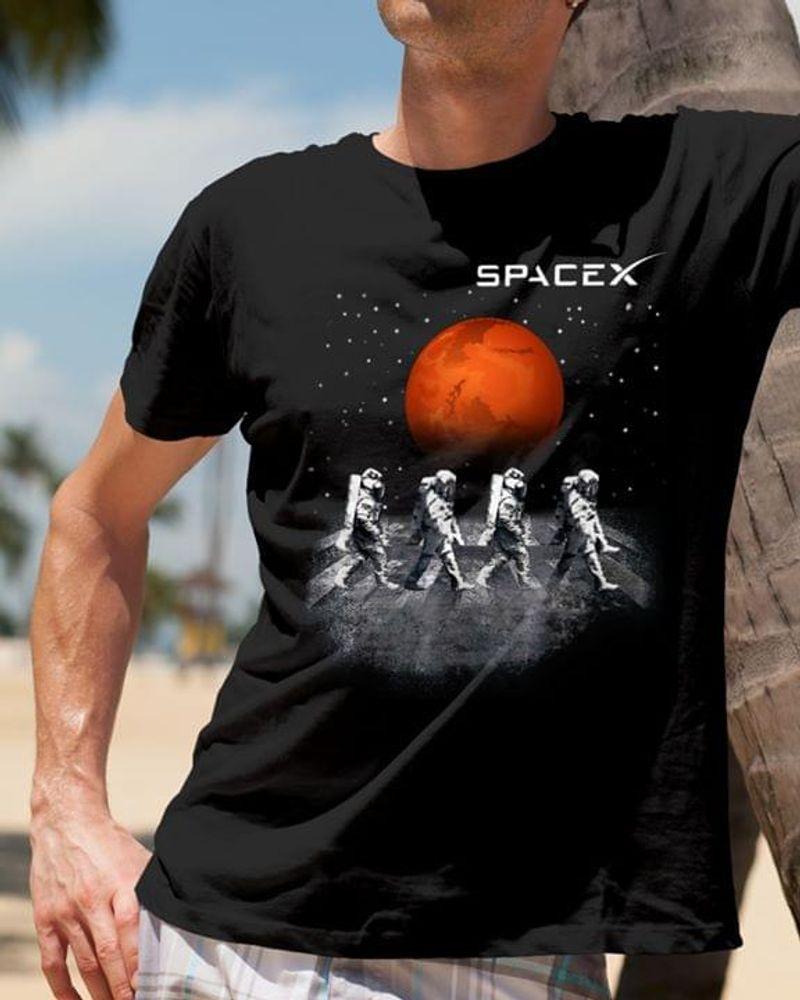Spacex Astronaut Vintage Black T Shirt Men And Women S-6xl Cotton