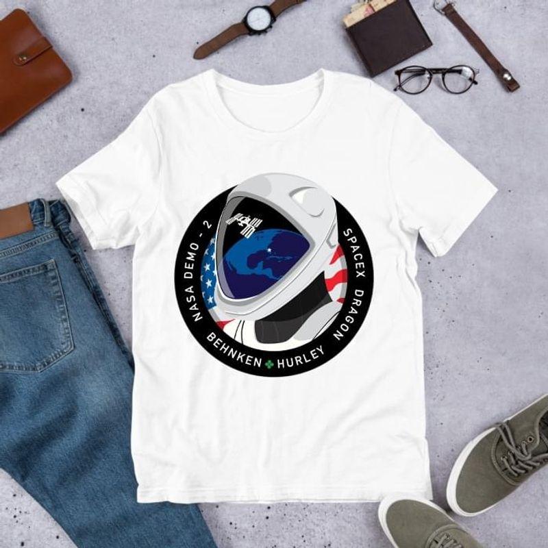 Spacex Dragon Behnken Hurley Nasa Demo 2 Astronaut Costume Alternative Personalities White  T Shirt Men/ Woman S-6XL Cotton
