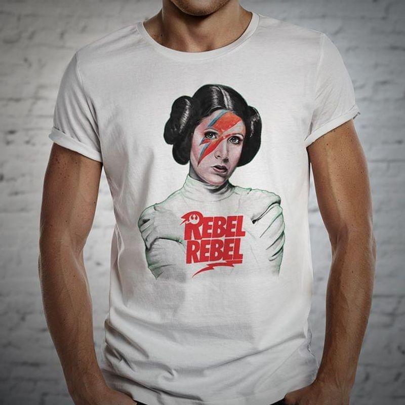 Star Wars Princess Leia Rebel Rebel Fans Gift White T Shirt Men And Women S-6XL Cotton