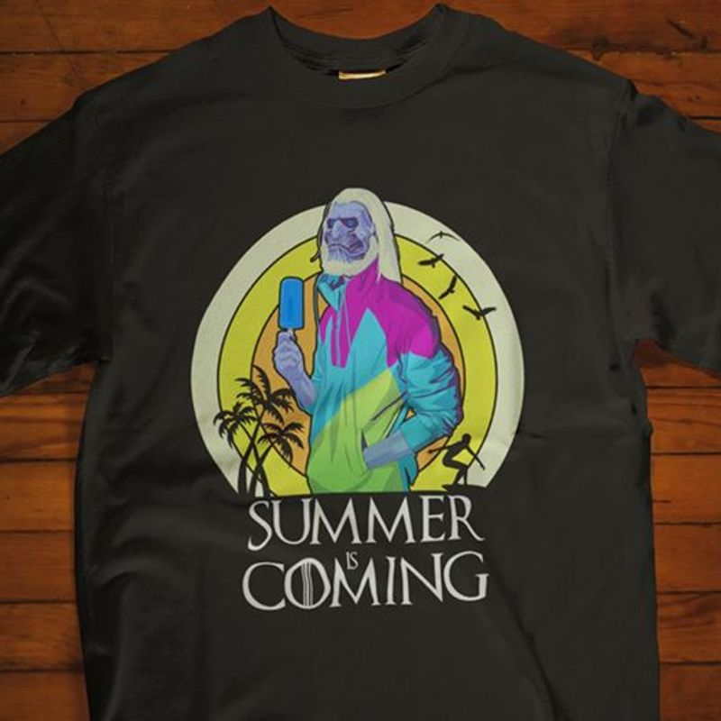 Summer Is Coming T Shirt Black A8