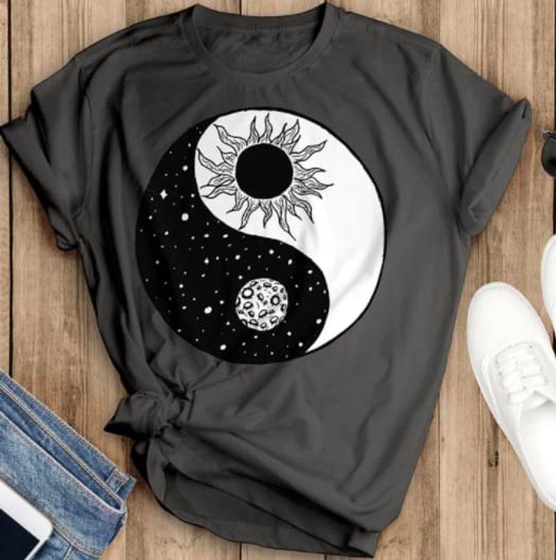 Sunflower Yin And Yang Sun And Moon T Shirt Men/ Woman S-6XL Cotton