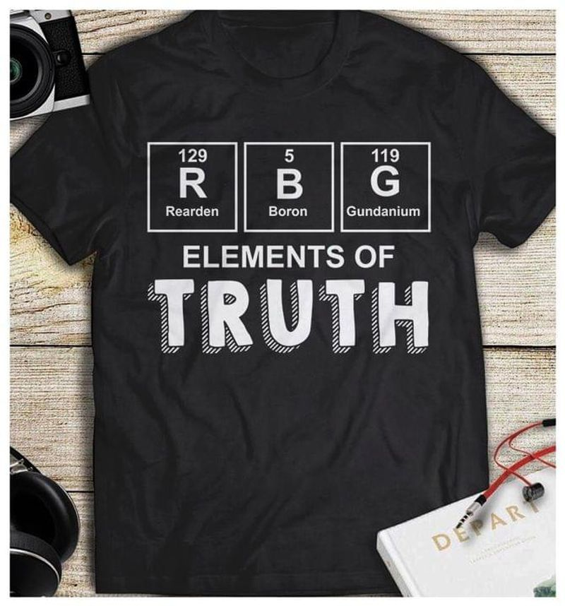 Supreme Notorious Rbg Elements Of Truth Periodic Table Political Ruth Bader Ginsburg Black T Shirt Men And Women S-6XL Cotton