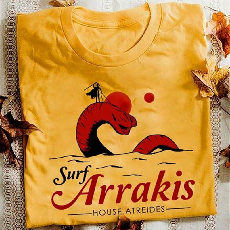 Surf Arrakis House Atreides T Shirt Orange A4