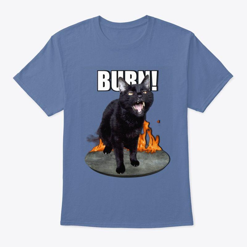 Sylvester Talking Cat Burn T Shirt Blue