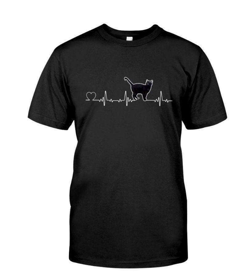Sylvester Talking Cat Heartbeat T-Shirt Black
