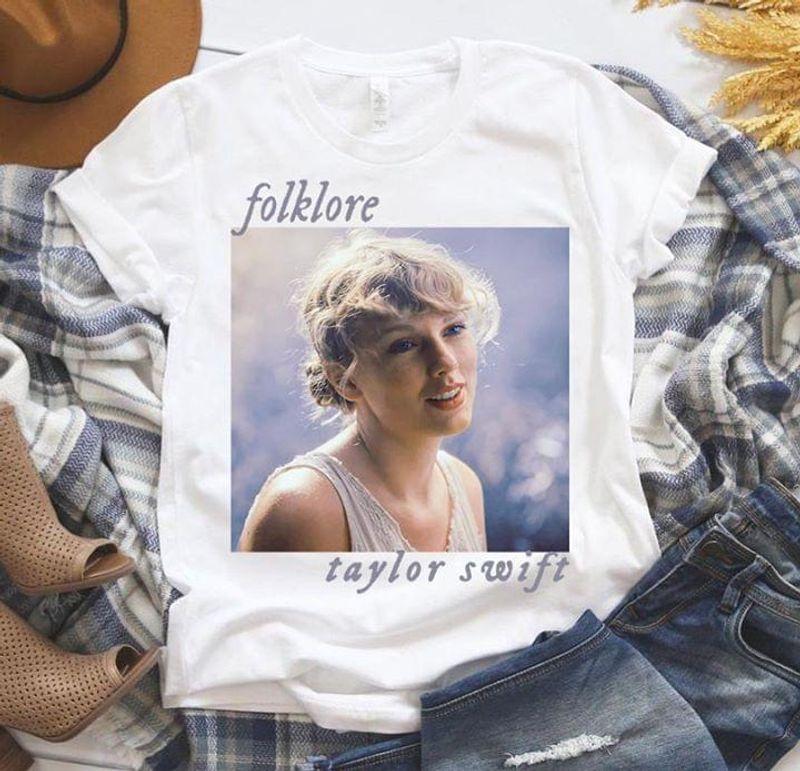Taylor Swift Fan Club Shirt Taylor Swift Folkore Album White White T Shirt Men And Women S-6XL Cotton