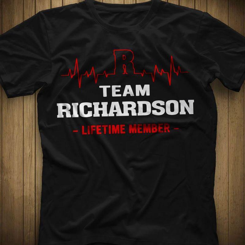 Team Richardson   Life Time Member T-shirt Black B1