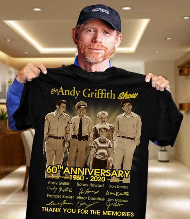 The Andy Griffith Show 60Th Anniversary Signatures Vintage Black Men And Women Shirt