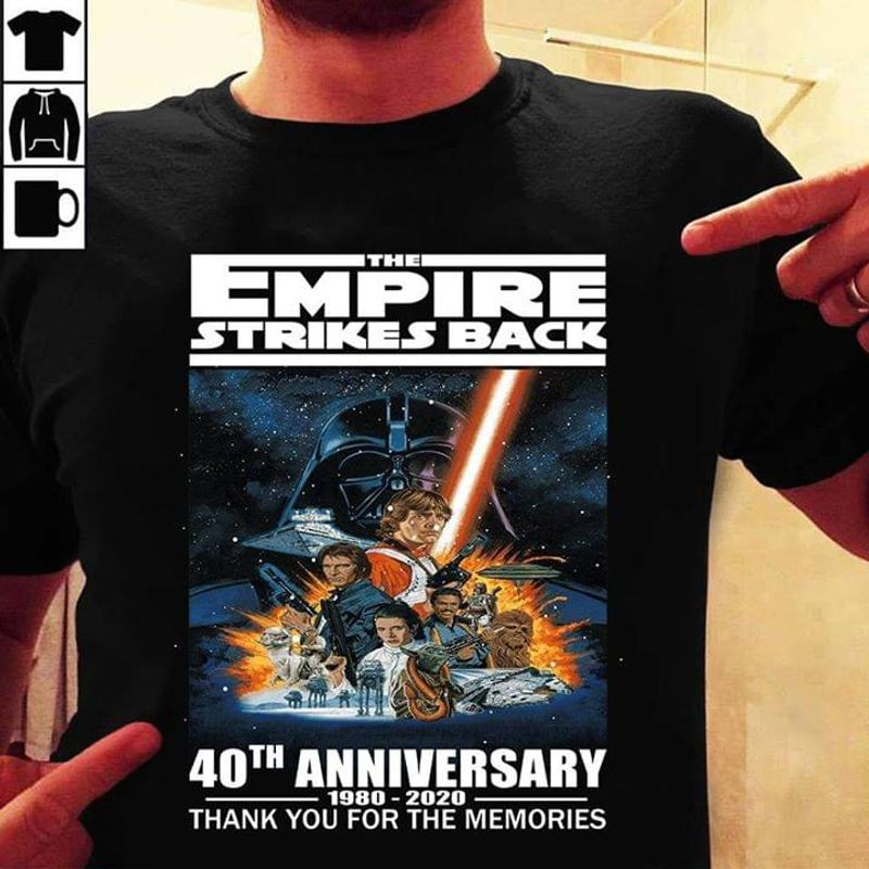 The Empire Strikes Back 40th Anniversary The Empire Strikes Star Wars Black T Shirt Men And Women S-6XL Cotton