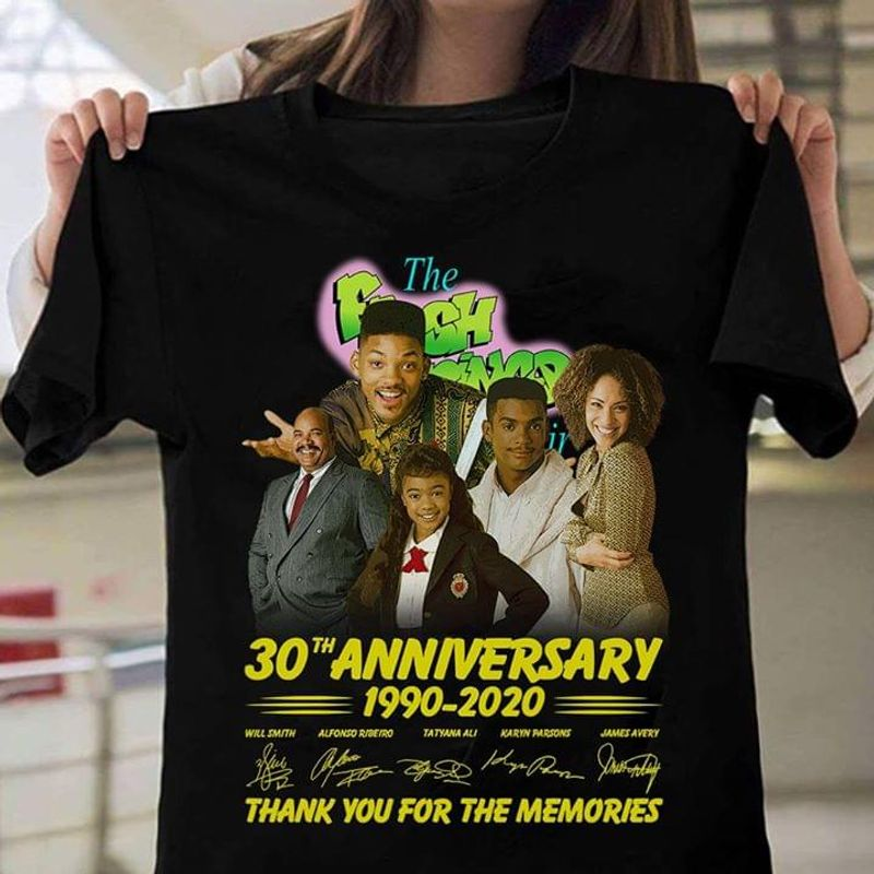 The Fresh Prince Of Bel Air 30th Anniversary Thank You For The Memories Black T Shirt Men And Women S-6XL Cotton