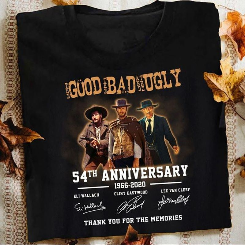 The Good The Bad And The Ugly Movie 54th Anniversary Shirt Black T Shirt Men And Women S-6XL Cotton