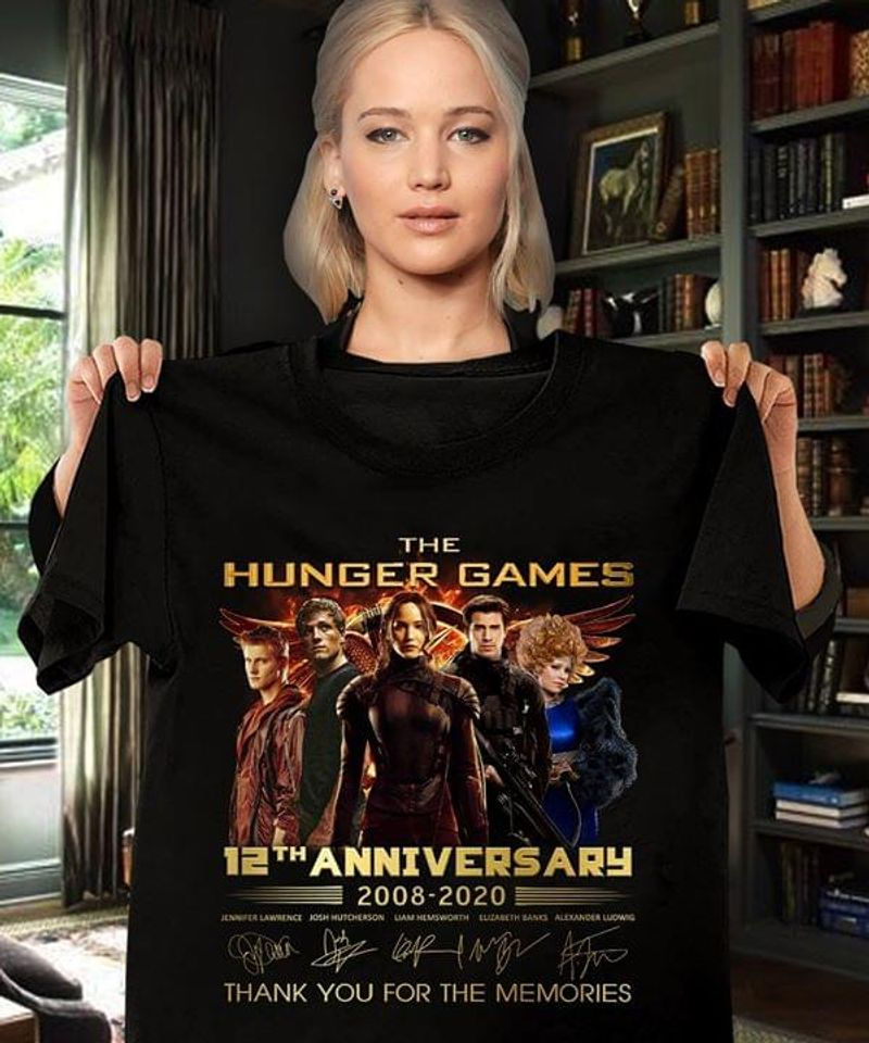 The Hunger Games 12th Anniversary 2008-2020 T-Shirt The Hunger Games Signature Black T Shirt Men And Women S-6XL Cotton