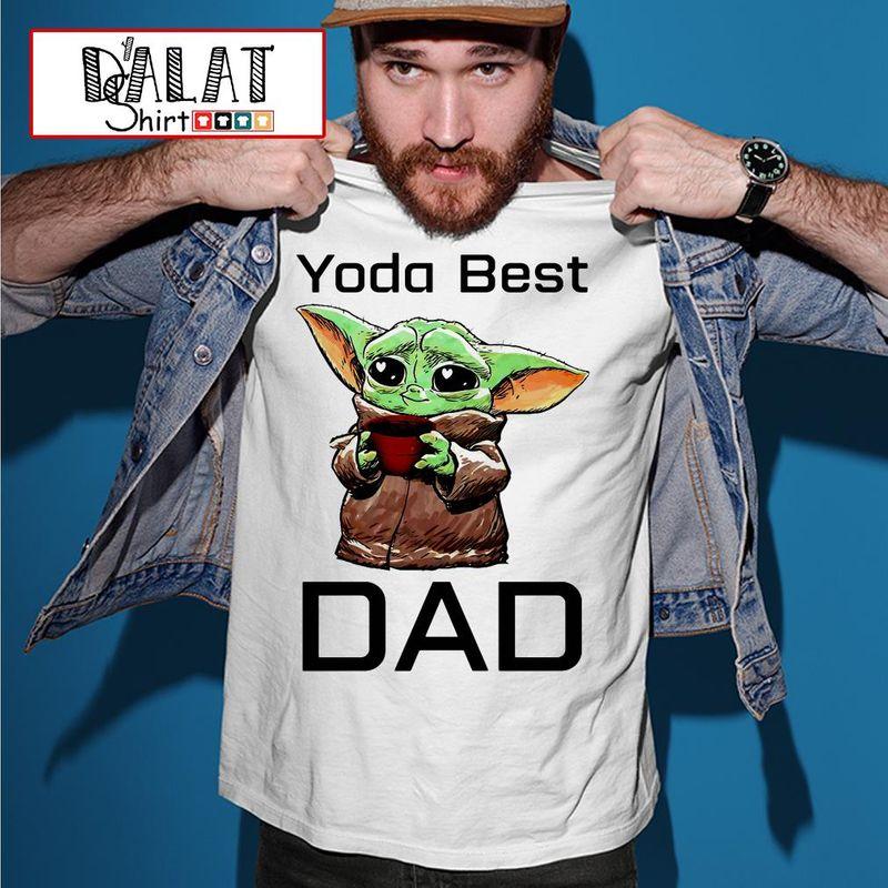 The Mandalorian Baby Yoda Best Dad T-shirt White 2